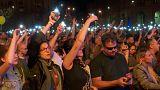 Manifestación en Budapest contra el resultado de las elecciones