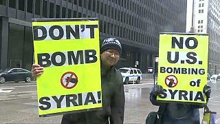 Raids en Syrie : manifs et contestations en Occident
