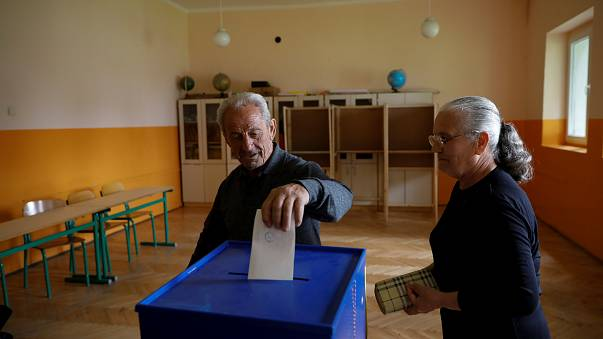 People in Montenegro cast their votes
