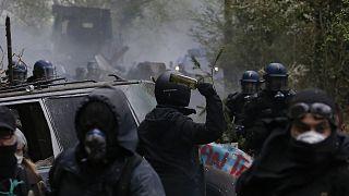 Proteste in Notre-Dame-des-Landes bei Nantes
