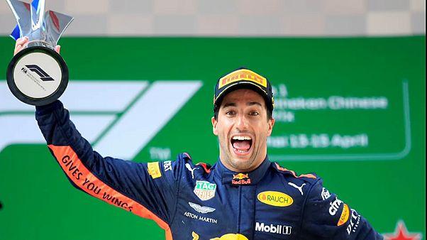 Çin Grand Prix'de zafer Daniel Ricciardo'nun