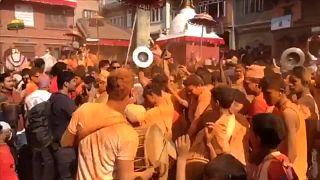 "Фестиваль ""Синдур Джатра"" в Бхактапуре"