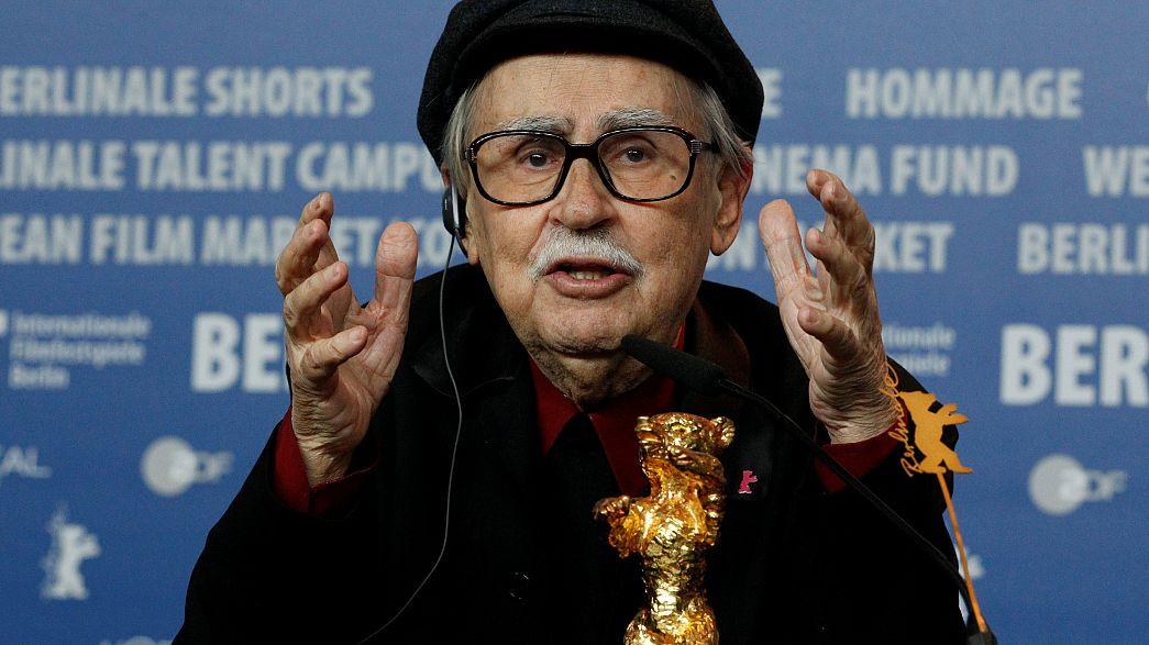 El director de cine italiano Vittorio Taviani en la 62 Berlinale, 2012