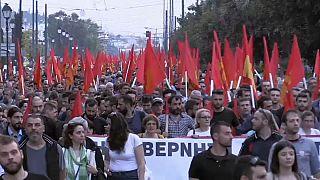 Антиамериканская демонстрация в Афинах