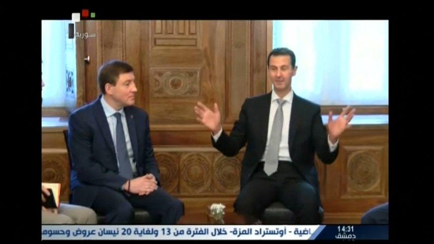 Rusya'dan Esad'a saldırı sonrası destek ziyareti
