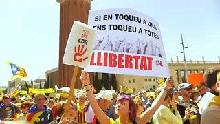 Gigantikus tüntetés Barcelonában