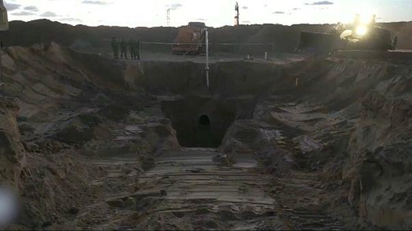 شاهد: إسرائيل تعلن تدمير نفق هجومي بمحاذاة قطاع غزة