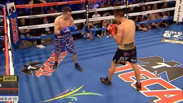 'America 1st' şortu giyen ABD'li boksör Meksikalı rakibine yenildi