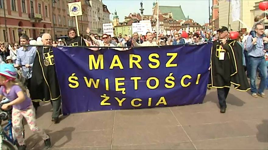 Марш против абортов в Варшаве