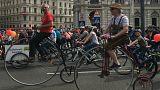 Kerékpáros parádé Bécsben