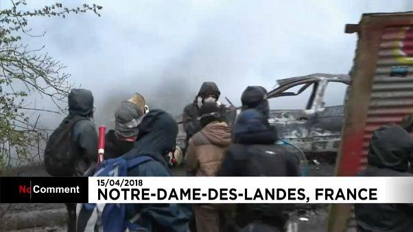 Ativistas continuam em Notre-Dame-des-Landes