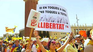 Barselona'da 350 bin kişi sokağa indi