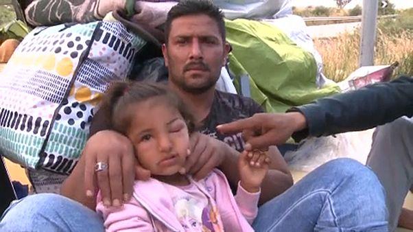 A háború végét követelik a szíriai menekültek