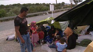 Refugiados sirios en Grecia piden el fin de la guerra