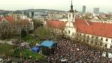 Around 30,000 people attended Sunday's protest rally in Bratislava