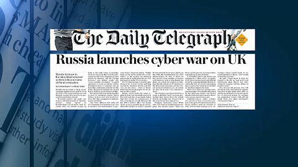Orosz kibertámadástól tartanak a brit lapok