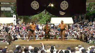 Szumóval köszöntötték a tavaszt Tokióban