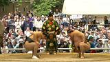 Scandal hit sumo wrestlers bounce back