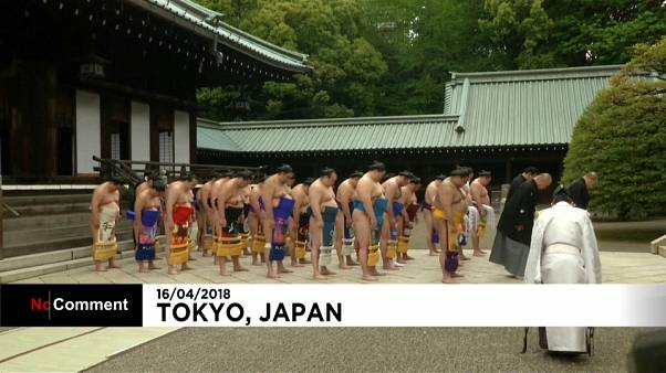 شاهد الطقوس الدينية لرياضة السومو اليابانية