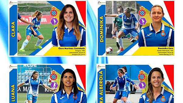 Spanish mother creates football stickers of female players for her daughters