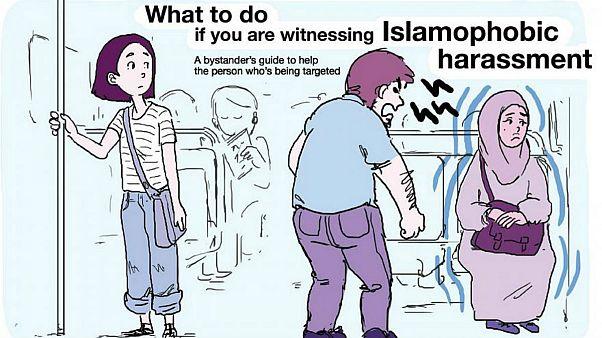 ابتکار یک هنرمند پاریسی: در مقابل یک اسلامهراس چه رفتاری باید داشت؟