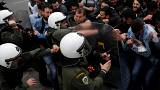Greek Communist Party supporters clash with police