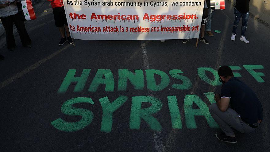 Kύπρος: Διαδήλωση κατά της επέμβασης στη Συρία