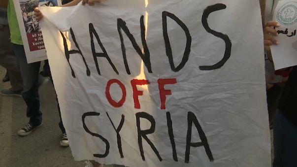 Антиамериканская демонстрация на Кипре