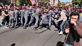 Confrontos com a polícia em Ierevan
