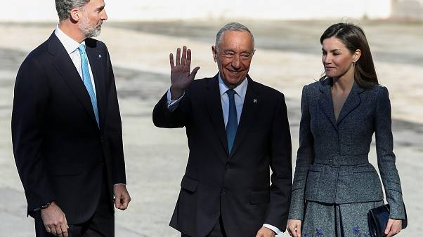 Portugal's President Marcelo Rebelo de Sousa in Madrid