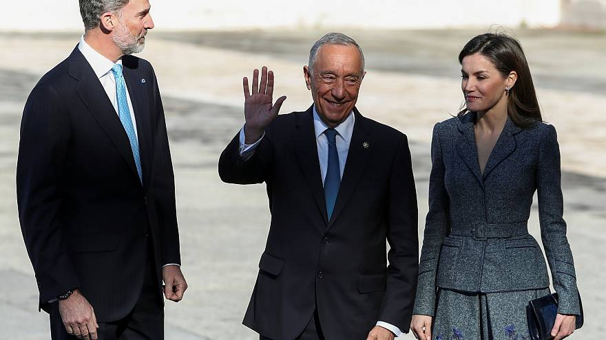 Portugal's President Marcelo Rebelo de Sousa in Madrid