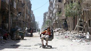 Peritos da OPCW em Douma esta semana