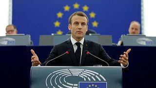 Emmanuel Macron détaille son programme européen à Strasbourg