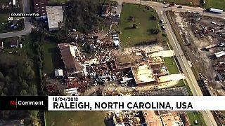 Tempestades atingem Carolina do Norte