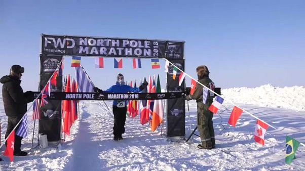 Le marathon du Pôle Nord remporté par un Grec