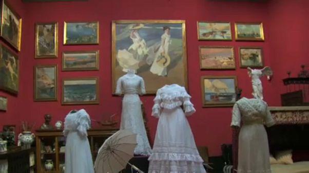 'Sorolla ve Moda' sergisi ziyaretçilerini ağırlıyor
