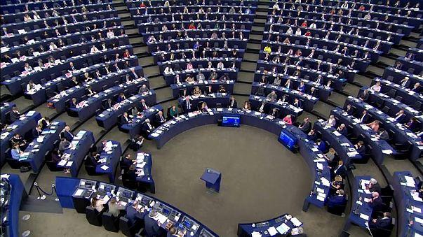 L'aula del Parlamento europeo di Strasburgo