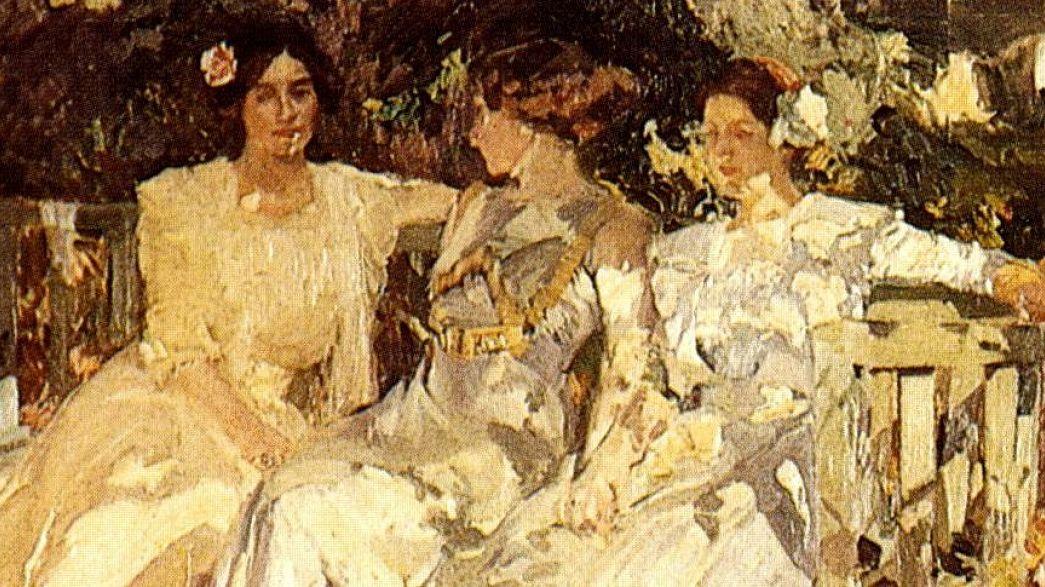 Clotilde del Castillo and their daughters, by her spouse Joaquín Sorolla.