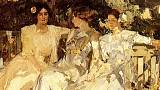 Clotilde del Castillo and their daughters, by her spouse Joaquín Sorolla.