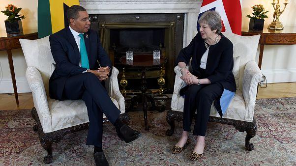 Premierministerin May traf Jamaikas Premierminister Andrew Holness