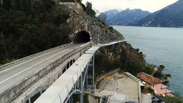 Espeluznante carril bici en Italia para intrépidos