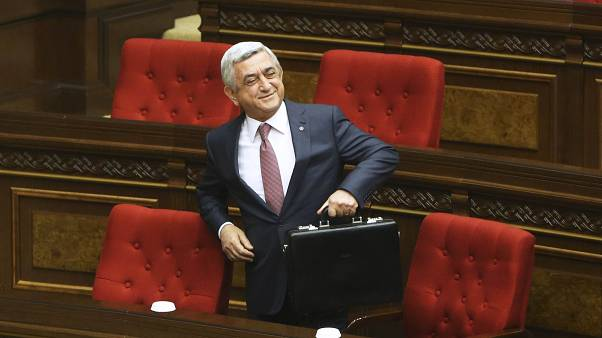 Sargsjan im armenischen Parlament.