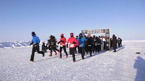 Corredores a la conquista del Polo Norte