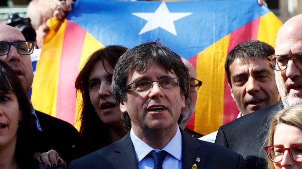 Catalonia's former leader Carles Puigdemont in Berlin, 7 April 2018.