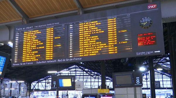 Nueva jornada de huelga de ferroviarios en Francia
