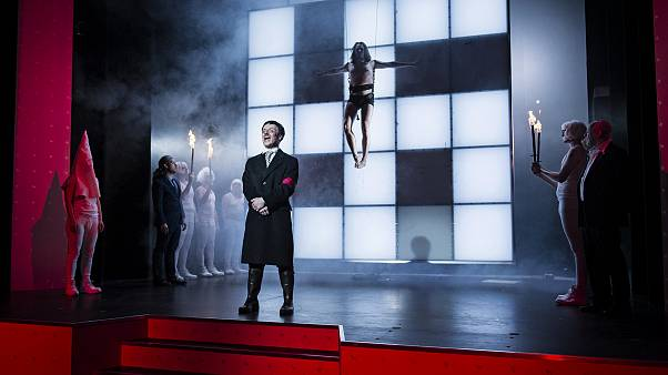 Mein Kampf, the play by George Tabori, tells the story of a young Hitler.