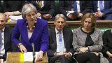 Theresa May discursa no Parlamento britânico