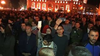 Protests continue in Armenia over president's sideways move into Prime Minister's office