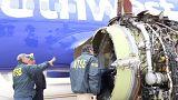 Szakértők vizsgálják a sérült hajtóművet Philadelphiában