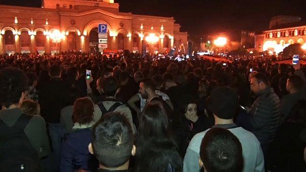 Erivan'da protestocular